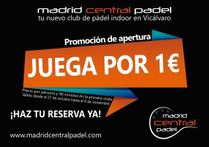 Juega por 1 euro en Madrid Central Padel
