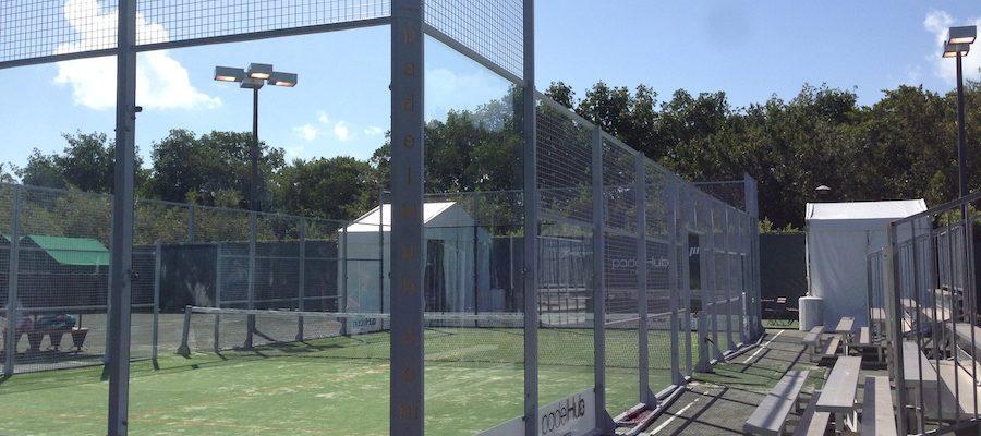 Pista de padel Master series de tenis de Miami